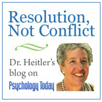 Resolution, Not Conflict; Dr. Heitler's blog on Psychology Today